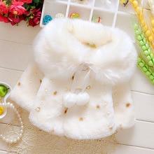 New Autumn Winner Baby Kids Girls Coats Floral Fashion Shawl Thicken Short Hooded Cloak Children Clothes