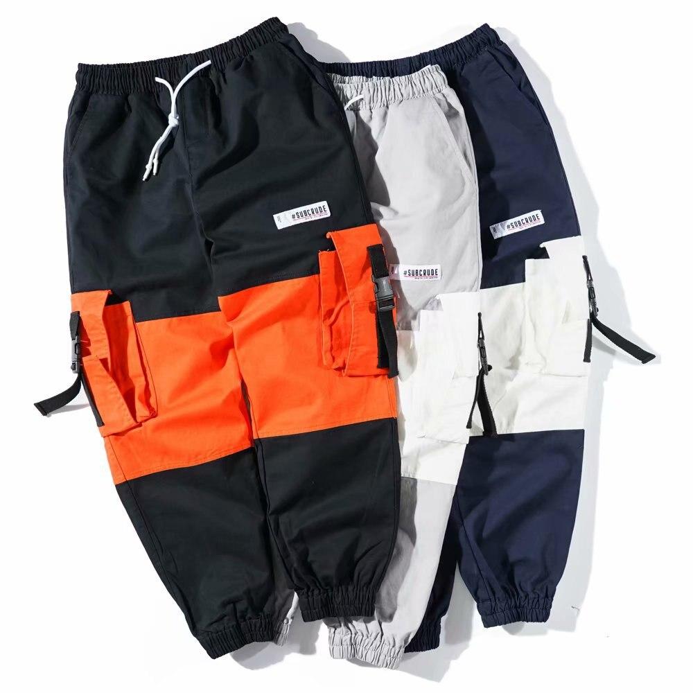 New Cargo Pants High Street Japanese Loose Pockets 2019 Spring Summer Men Hip Hop Pants Skateboard Streetwear Pants Men