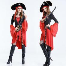 Хеллоуин, Пираты на Карибский Капитан женский бар Вечеринка сцена, костюм для взрослых, женские костюмы для косплея ролевая игра вечерние поставки