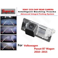For Volkswagen Passat B7 Wagon 2010 2015 CCD Car Backup Parking Camera Intelligent Tracks Dynamic Guidance
