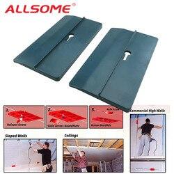 Allsome 2 pces drywall ferramenta de montagem placa de gesso ferramenta de fixação suporta a placa no lugar durante a fixação