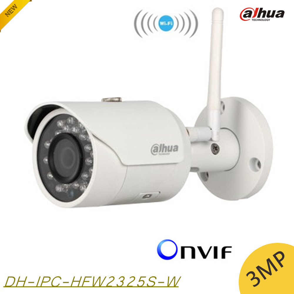 ФОТО Dahua IPC-HFW2325S-W 3MP IR50M IP67 mini camera WIFI SD Card slot Network outdoor WIFI Camera replace IPC-HFW1320S-W IP Camera