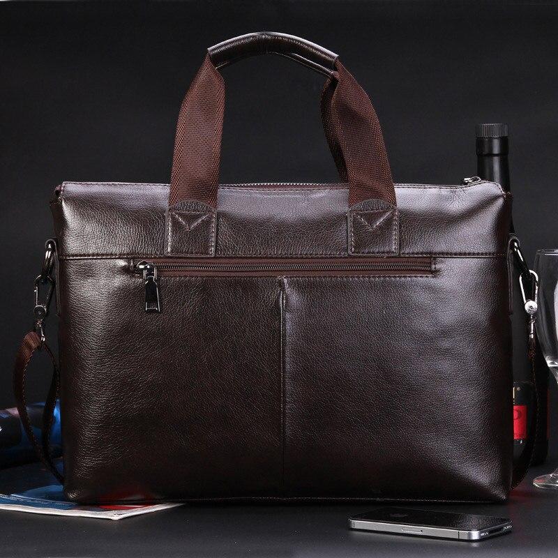 sacolas de homens homensageiro maleta Exterior : Abra o Bolso