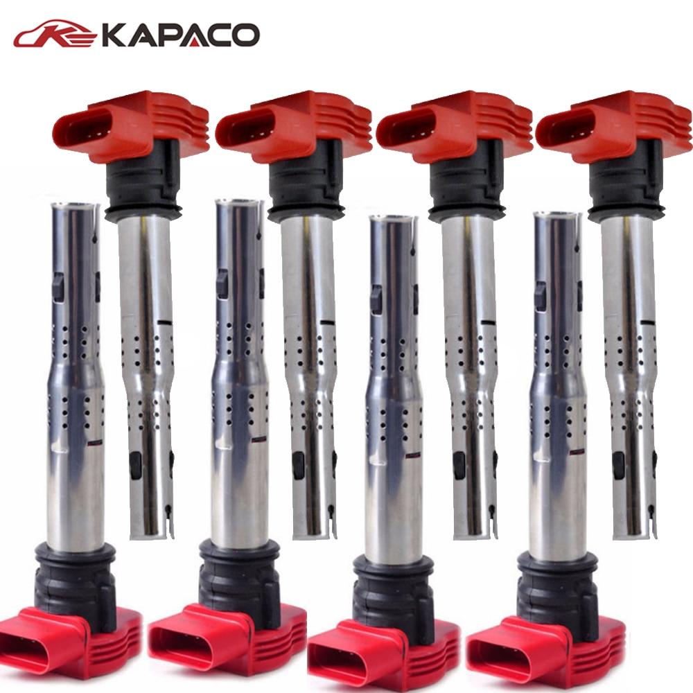 4pcs Auto Replacement Parts Ignition System Coil 06e905115e Touareg V1 0 Engine Block Diagram 06e 905 115 E For Audi A4 A5 Quattro Vw 06e905115c