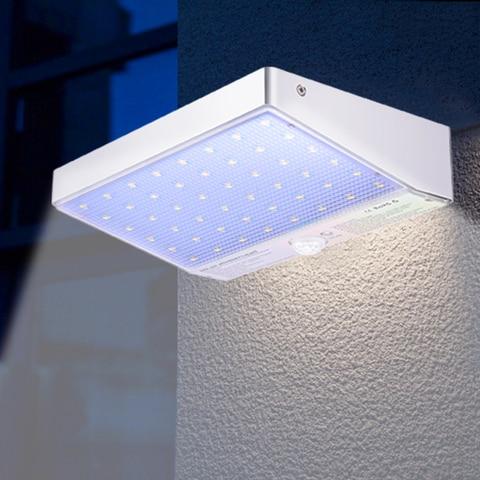 48 led jardim luz solar ao ar livre sensor de movimento led a prova dwaterproof
