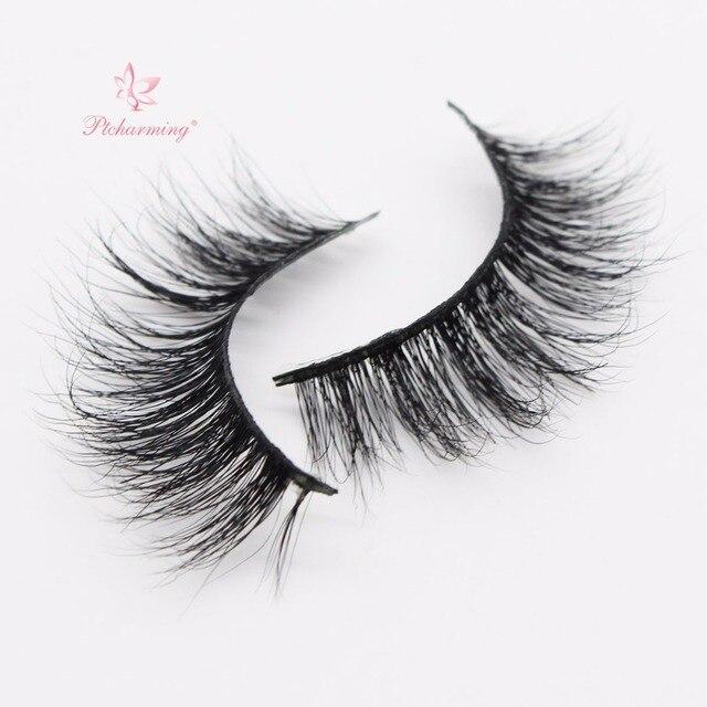 852ab07ba9f Ptcharming Handmade 100% Real Siberian Mink False Eyelash Individual  Eyelashes Extension 3D Faux Lashes-