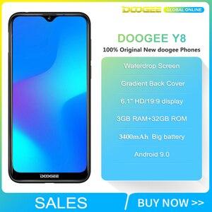 "Image 2 - 업그레이드 3GB + 32GB DOOGEE Y8 안드로이드 9.0 스마트 폰 6.1 ""FHD 19:9 디스플레이 3400mAh MTK6739 4G LTE 모바일 물방울 스크린"