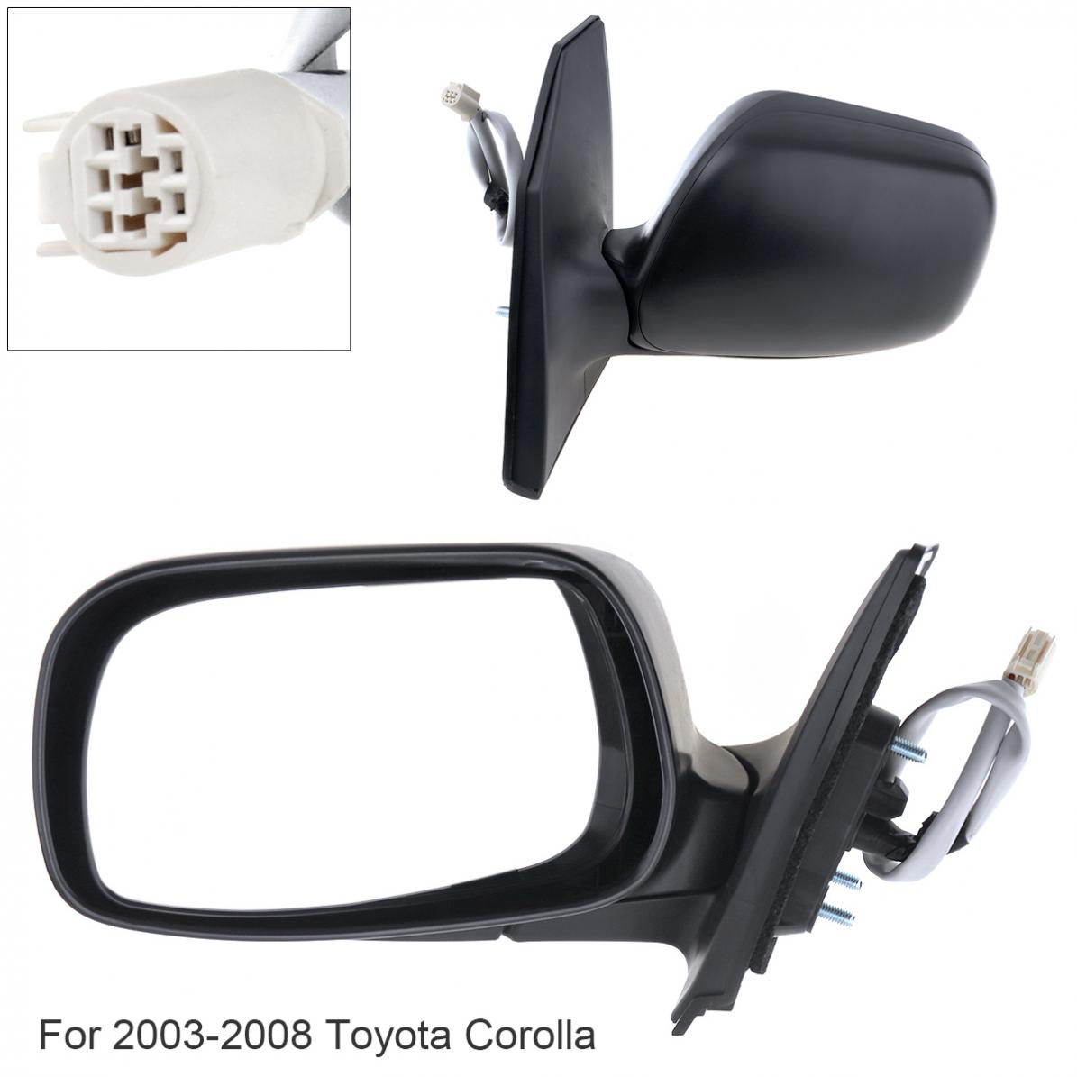 Non Folding Waterproof Car Left Side Mirror Left Hand LH Mirror for 2003 2008 Toyota Corolla CE/LE/S/Sport/ XRS Sedan 4 Door