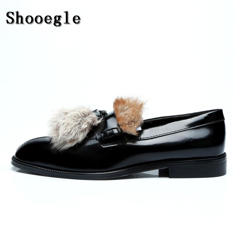 Mocasines Style Hombre Lujo Peludo Fiesta Slip 1 Shooegle style Fumar Hombres Zapatos Otoño Personalizado Casual 2 Moda on Pelo Piel Vestido qw6P6TA