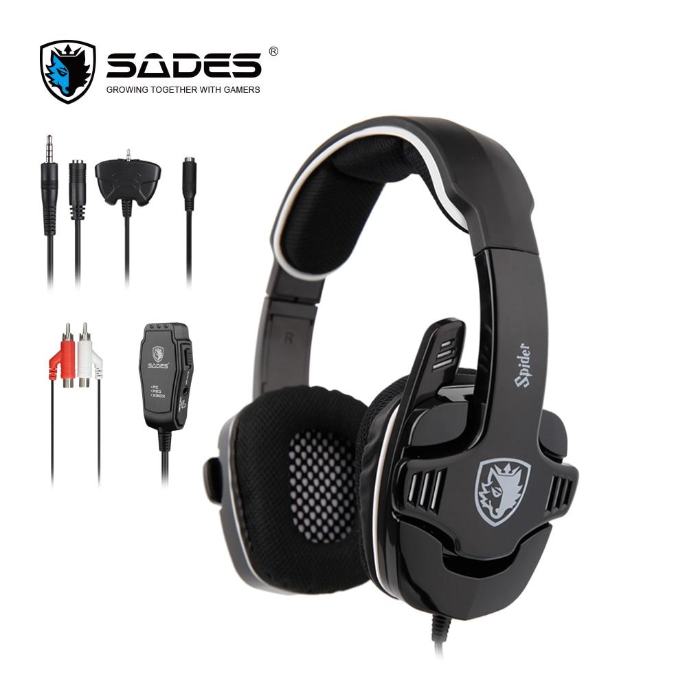 SADES Spinne Stereo Sound Gaming Headset 3,5mm Gamer Kopfhörer Für Handys Xbox/PS4