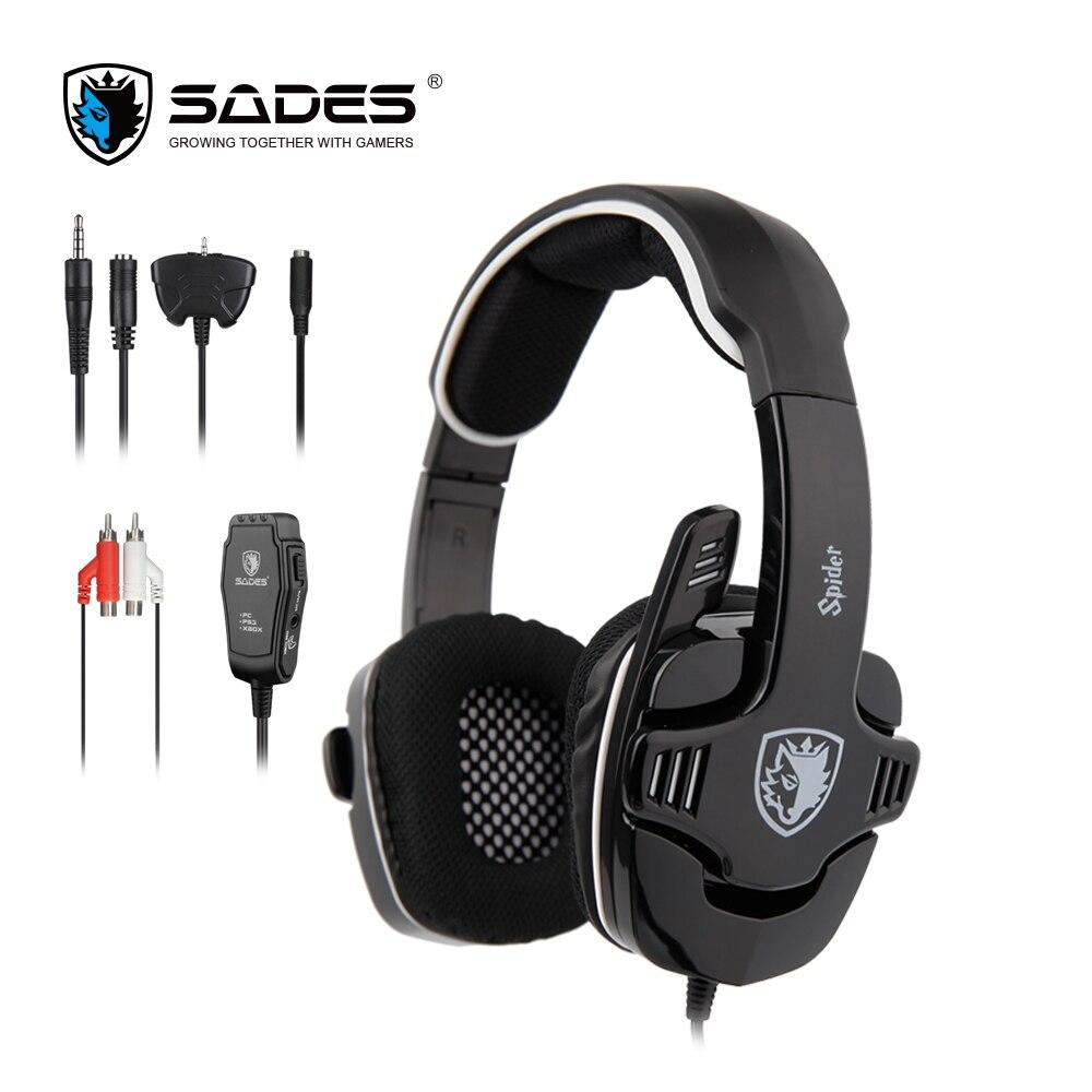 SADES araña sonido estéreo Gaming Headset 3,5mm auriculares para teléfonos Xbox/PS4