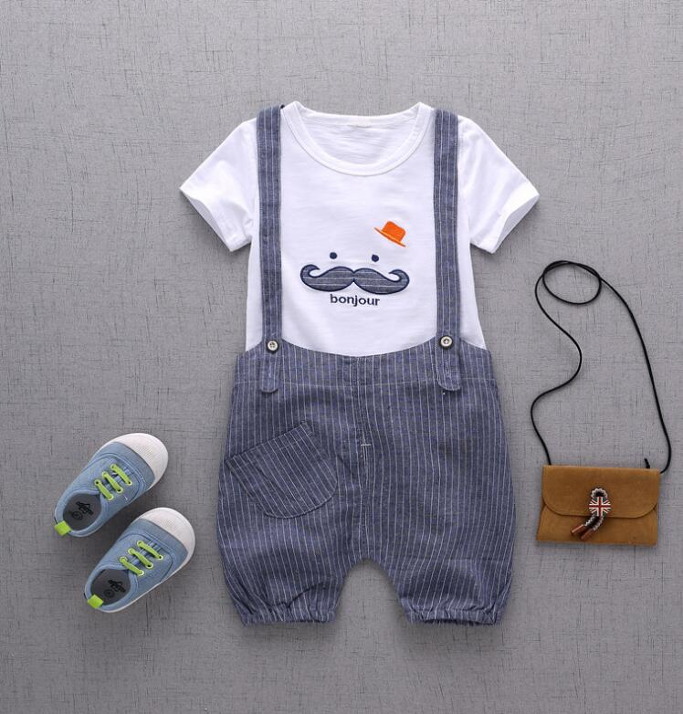 Bibicola baby summer boys clothing set children bib rompers clothing suit infant boy T shirt tracksuit baby boy clothes