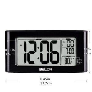 Image 2 - BALDR Digitale Dutje Timer Wekker Snelle Instelling LCD Temperatuur Display Desktop Tafel Klokken Witte Achtergrondverlichting Thermometer