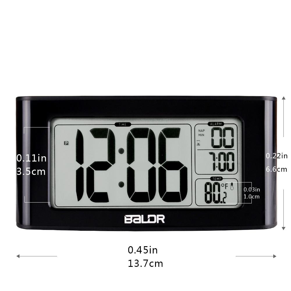 Image 2 - Baldr digital nap temporizador despertador ajuste rápido display  lcd de temperatura mesa relógios branco backlight termômetroclocktimer  ledclock motion
