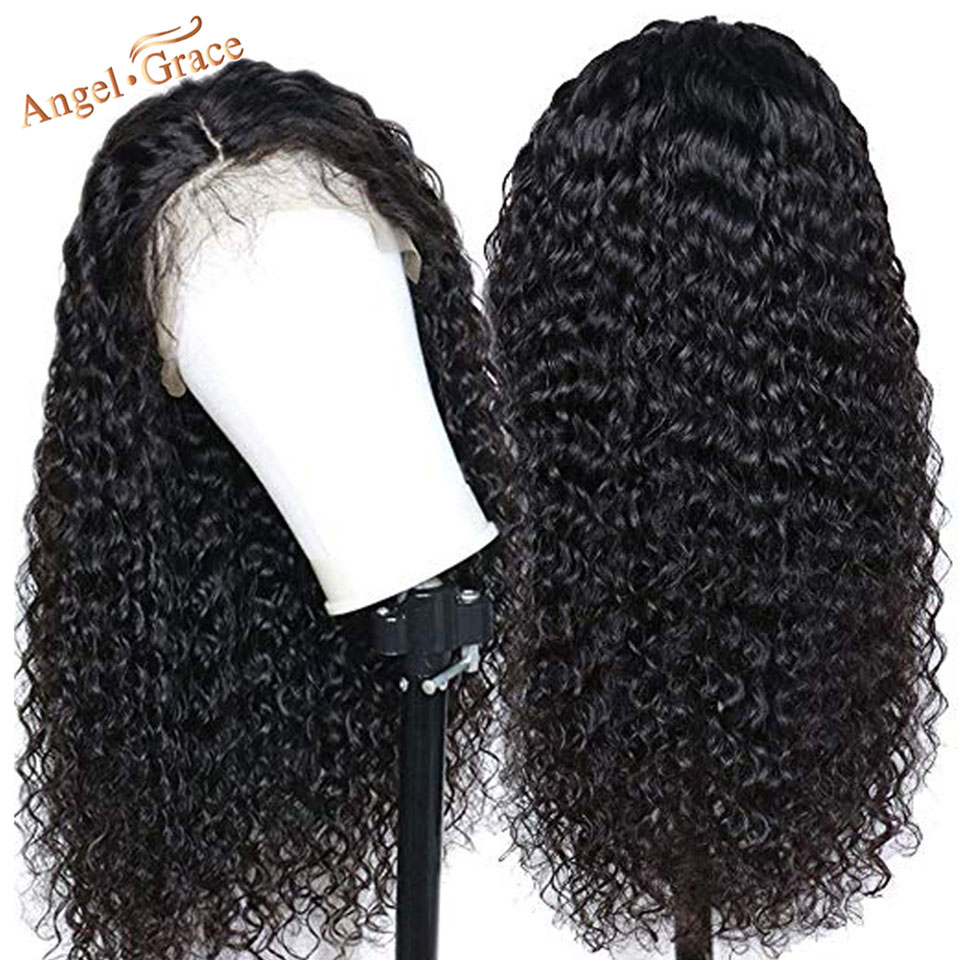 Image 3 - Angel Grace Mongolian Kinky Curly Remy Human Hair Wig 13*4 /13*6 Glueless Lace Front Human Hair Wigs Pre Plucked With Baby Hair-in Human Hair Lace Wigs from Hair Extensions & Wigs