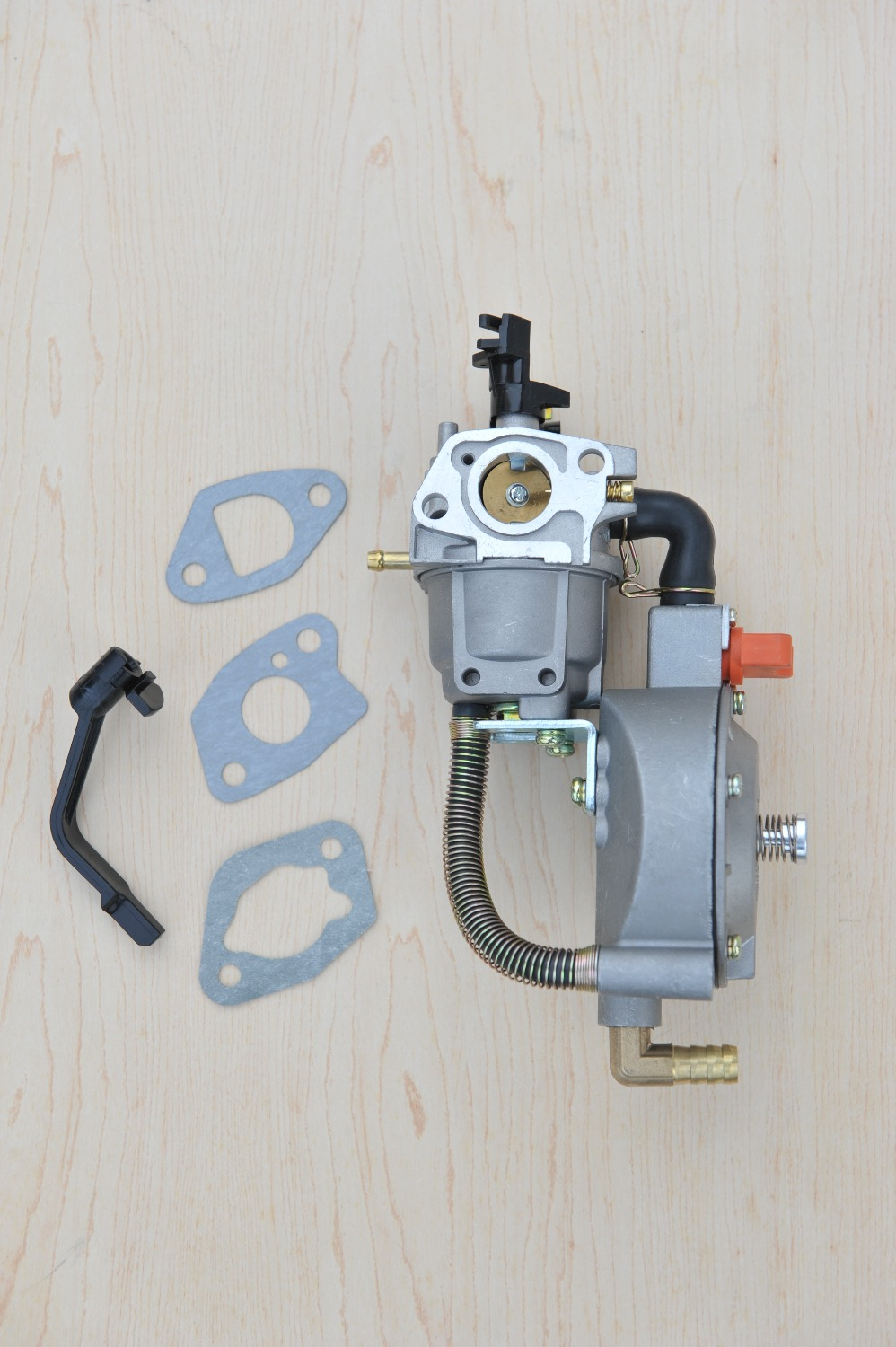 dual fuel carburetor for gasoline generator LPG NG propane gasoline hybrid 2.8KW 170F GX200 + silk scarf as gift