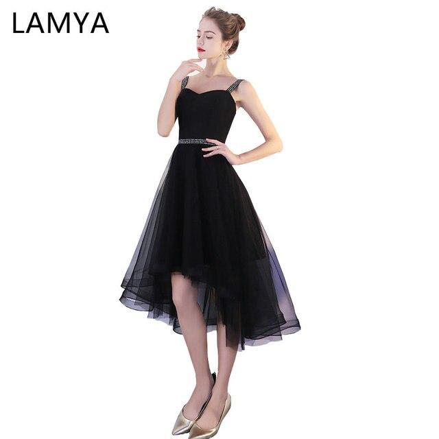 a1d9b35c58be Lamya Back Sexy High Low Elegant Prom Dresses Princess Evening Party Dress  Short Front Long Back Fromal Gown vestido de festa