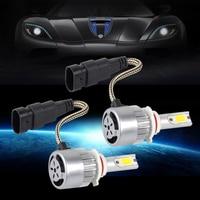 DWCX 2Pcs Aluminum 9006 LED 36W 3800LM 6000K Combo Headlight High Low Beam White Bulb For