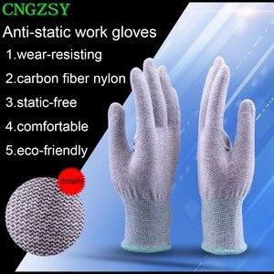 Image 5 - 5 pares estático livre wearable apertado trabalho fibra de carbono luvas de náilon carro envoltório janela matizes ferramentas auxiliares luvas de malha 5d08