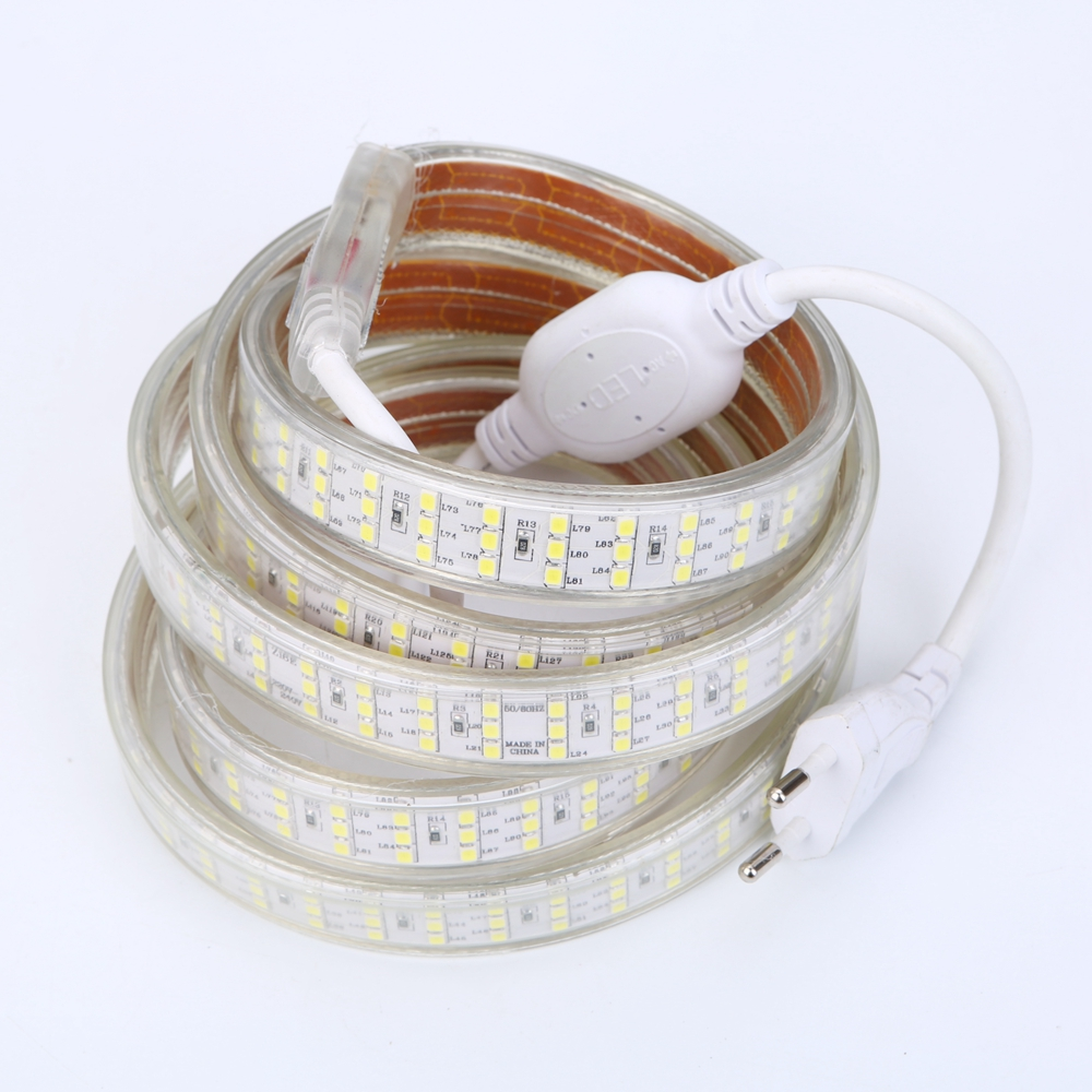 LED Strip Light Waterproof IP67 220V 240V 2835 276led/m Three Row LED Tape 2m 5m 10m Fle ...