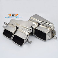 Best Selling muffler tail 1 to 2 stainless steel modified car exhaust tail throat squar mouth fit for BMW 730,740 upgrade 760