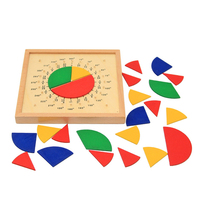 Baby Toys Circular Mathematics Fraction Division Teaching Aids Montessori Board Wooden Toys Child Math Educational Toys