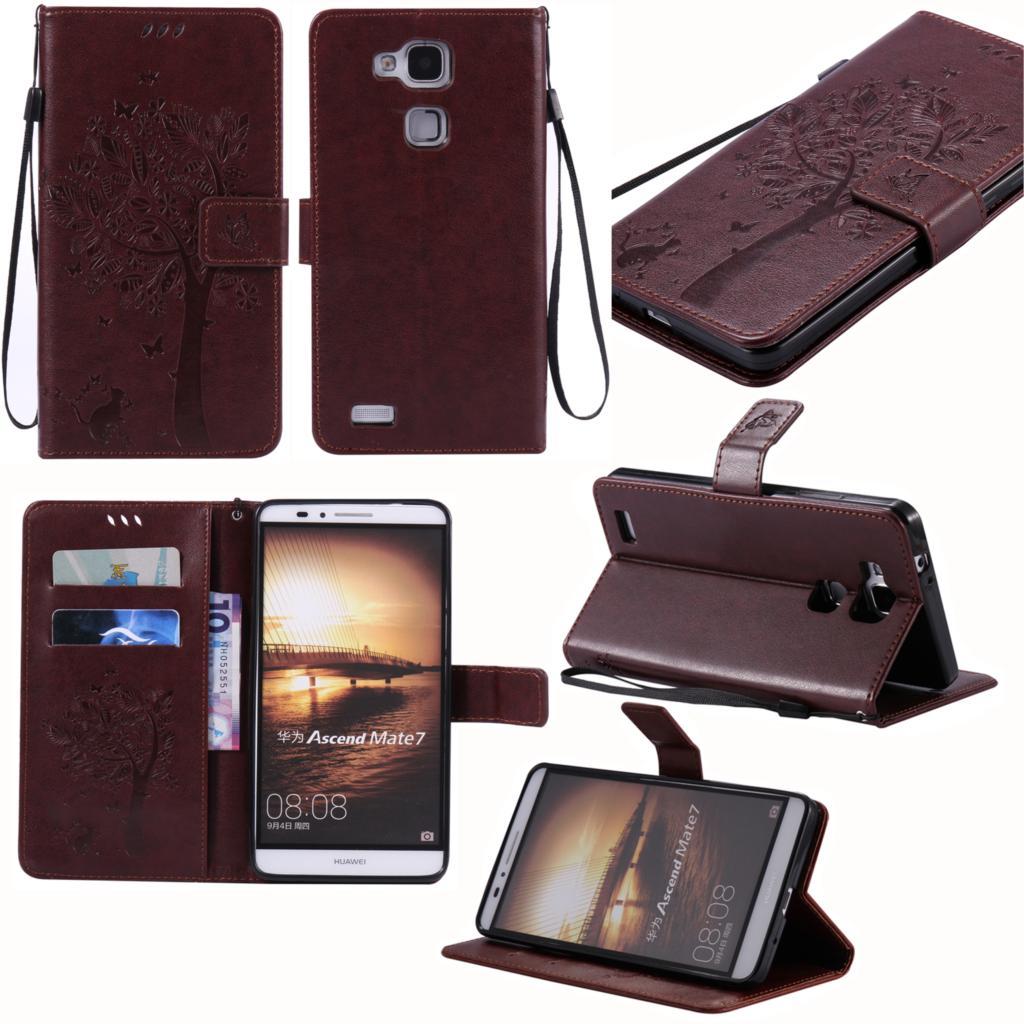 Fundas Flip Cas Pour Huawei compagnon 7/mate7 PU Couverture En Cuir Pour Coque Huawei compagnon 7 mt7 tl10 tl00 UL00 L09 CL00 Téléphone Cas Capa