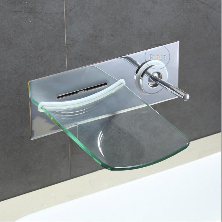 3 Style Bathroom Glass Faucet Bath Shower Faucet In Wall Waterfall ...