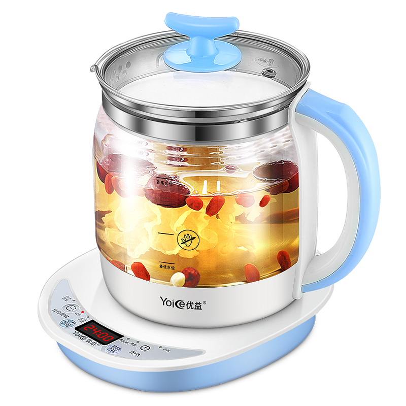 Home Office Health Pots Automatic Thickening Glass Boiling Pot Multi-functional Health Kettle Tea Pot for Insulation 6 Hours health pot mini automatic thickening glass multi purpose tea kettle flower tea pot boiling pot electric kettle