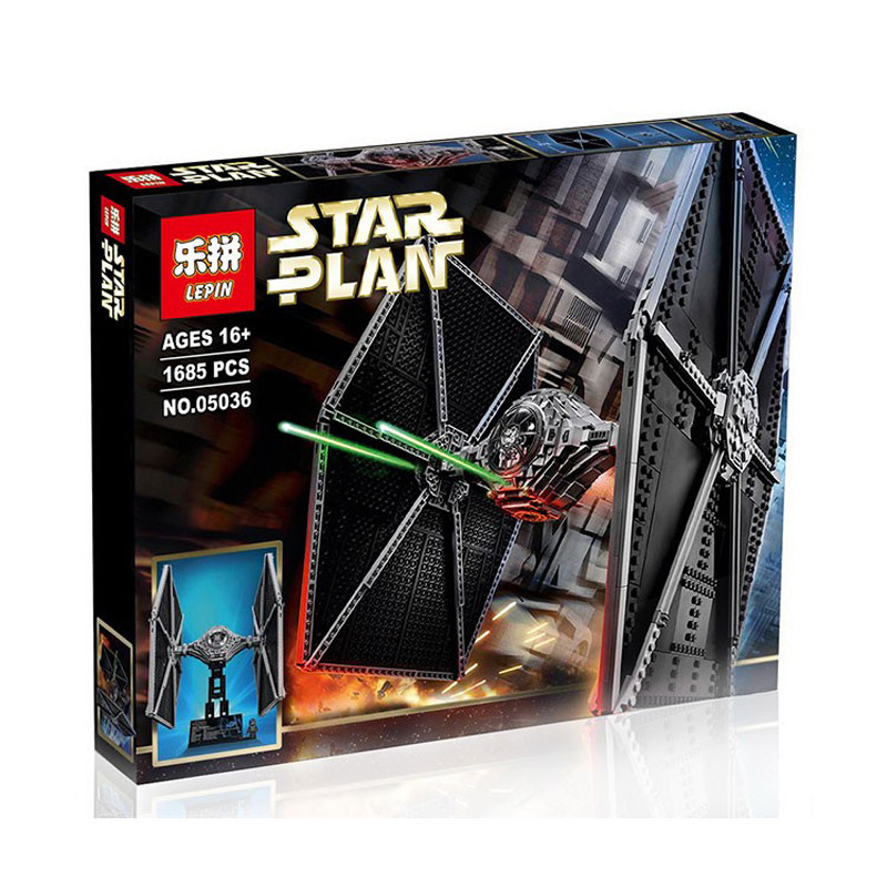 05036 Star War Series LEPIN Tie Fighter Building Blocks Kids Educational Bricks Toys Children gift Compatible 75095 lepin 02012 city deepwater exploration vessel 60095 building blocks policeman toys children compatible with lego gift kid sets