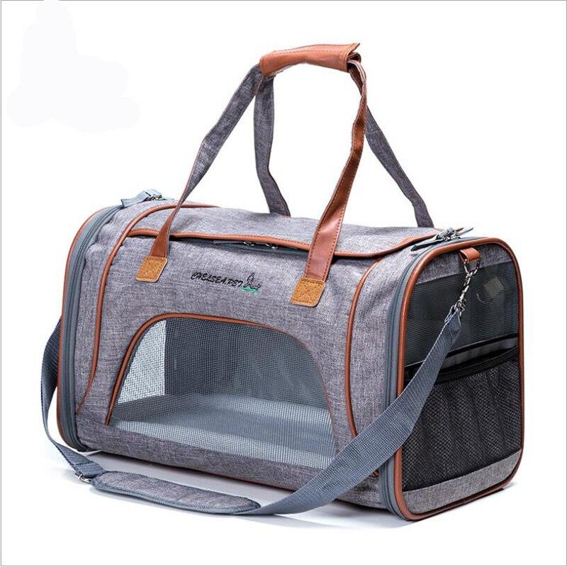 Cat Dog Carrier Bag Portable Handbag backpack for dogs transparent breathable Cat Bag Puppy Carrying Shoulder