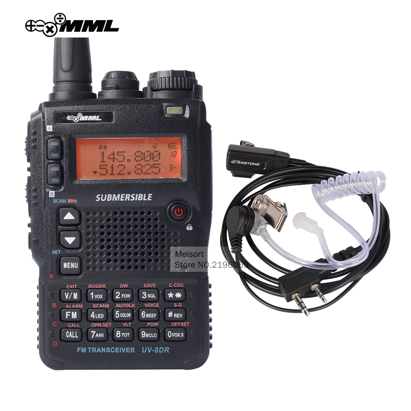 bilder für MML UV-8DR Tri-band UHF VHF Handheld Zweiwegradio Station beste Long Range Walkie Talkie mit Headset CB Walky Talky Transceiver