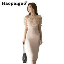 Женское платье с вырезом лодочкой розовое вечернее средней длины