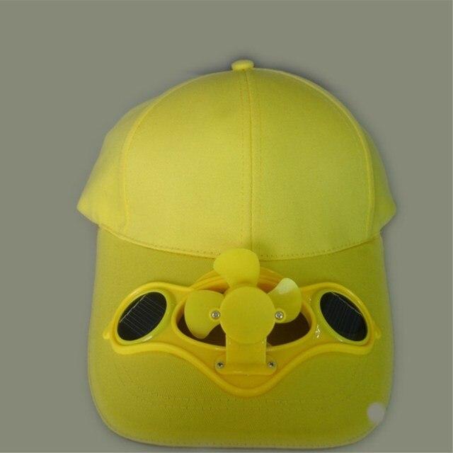 מוצר 2016 Novelty Sun Solar Power Hat Cap With Cooling