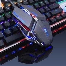 ZUOYA Respirar Retroiluminado Gaming Mouse 3200 DPI ajustable 8 botón Inteligente Macro LED Óptico USB Con Cable para Pro Gamer mause PC