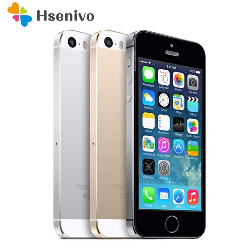 Venta caliente apple iphone 5S celular teléfono móvil LTE Dual Core desbloqueado 16 GB ROM 8mp IOS GPS WiFi multi -idioma reformado