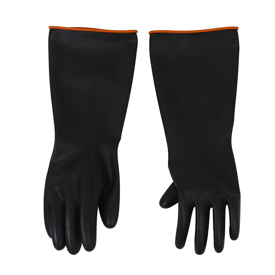 2 Pcs Of MOOL  Pair Chemical Resistance Industry Elbow Long Rubber Gloves 18