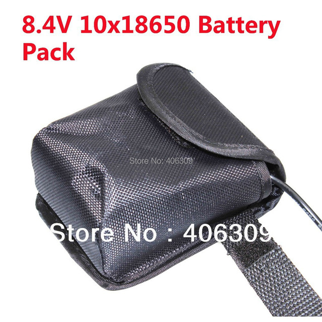Super Powerful 8.4V Max 13000mAh 10 x 18650 Battery pack For 8.4V LED Bicycle Light With Pouch Free shipping