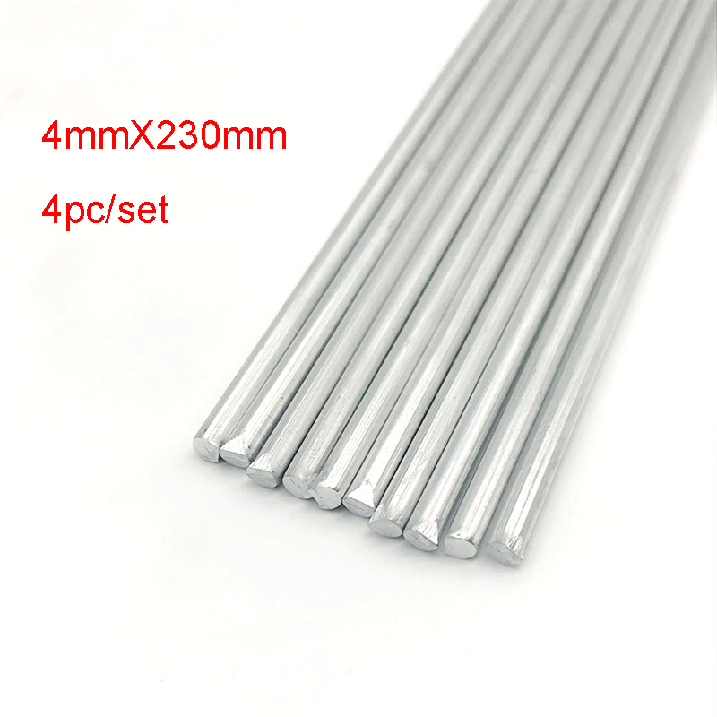 4pcs Low Temperature Welding Rod Aluminum Tig Soldering Brazing Rods 4mmx230mm with Corrosion Resistance