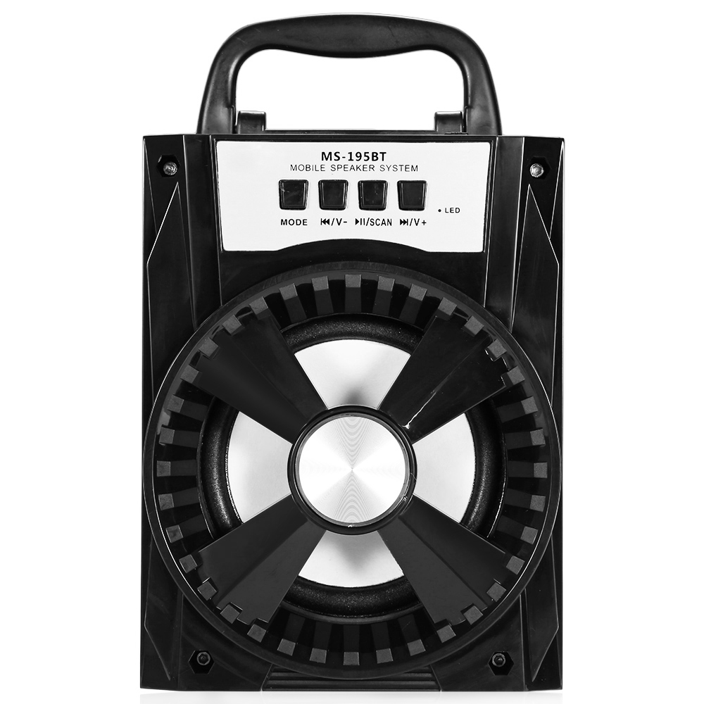 MS-195BT Portable High Power Multimedia Loudspeaker FM Radio Wireless Bluetooth Speaker Support AUX Songs Track TF/Micro SD Card