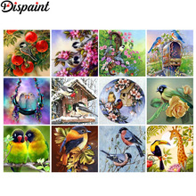 Dispaint Full Square/Round Drill 5D DIY Diamond Painting Animal bird flower 3D Embroidery Cross Stitch 5D Home Decor Gift цена