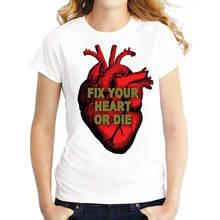 Custom Shirts  Fix Uw Hart Of Sterven O-Neck Short Sleeve Compression Womens T