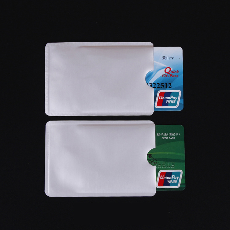 500 Pcs/set RFID 13.56mhz IC Card Protection NFC Security Card RFID Shielded Sleeve Card Blocking Prevent Unauthorized Scanning