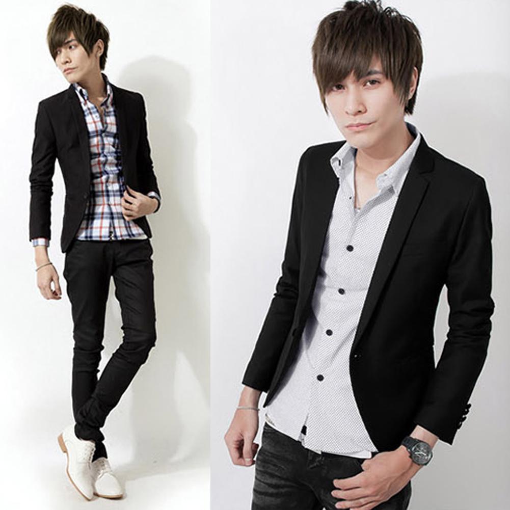 New Brand Blazers Men One Button Blazer Casual  Slim Fit Costume Homme Suit Jacket Masculine Blazer Terno Masculino Size M-3XL