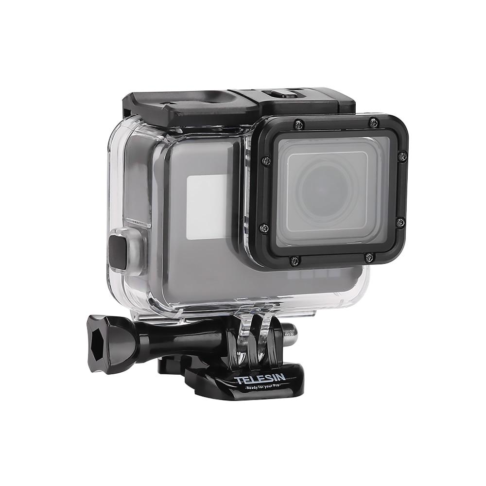 TELESIN 45M Underwater Housing Waterproof Case + Touchable Cover for Gopro Hero 5/ 6 Hero 7 Black Camera AccessoriesTELESIN 45M Underwater Housing Waterproof Case + Touchable Cover for Gopro Hero 5/ 6 Hero 7 Black Camera Accessories