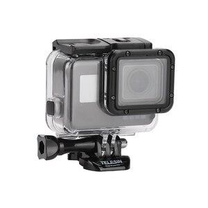 Image 3 - Telesin 45M Dưới Nước Vỏ Chống Nước + Cảm Ứng Dành Cho Gopro Hero 5/ 6 Anh Hùng 7 Đen Camera phụ Kiện