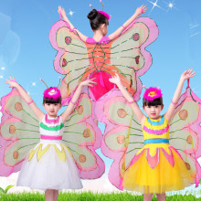 colorful butterfly costumes for girls carnival costume wings festival dance clothing children