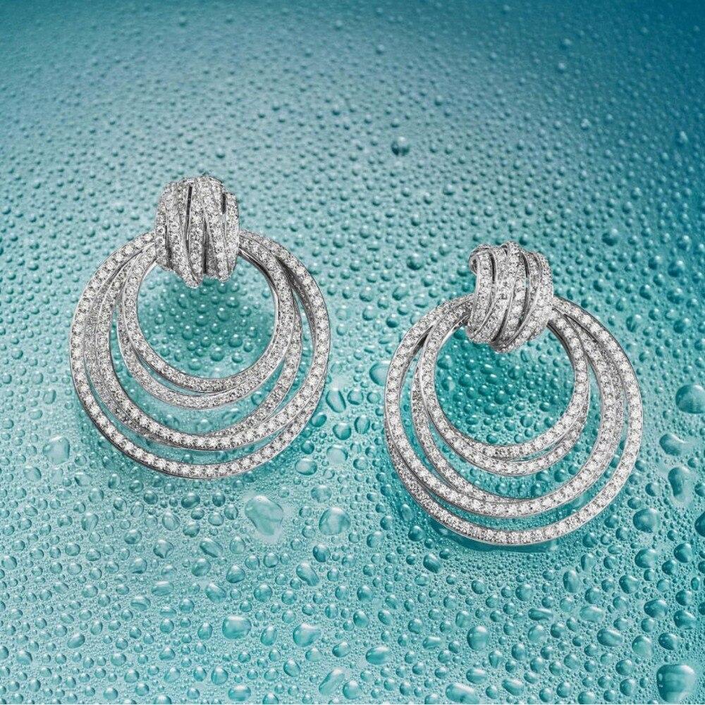 GODKI Luxury Twist Circle Dangle Earrings For Women Wedding Cubic Zircon Crystal CZ Dubai Bridal Earring Fashion Jewelry 2019GODKI Luxury Twist Circle Dangle Earrings For Women Wedding Cubic Zircon Crystal CZ Dubai Bridal Earring Fashion Jewelry 2019