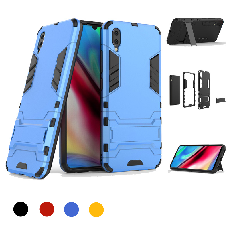 Anti fall Armor Phone Case For VIVO V15 V15 Pro Soft Silicone Bumper Hard Back Cover For VIVO Y93 Heavy Duty Protective Shell in Fitted Cases from Cellphones Telecommunications