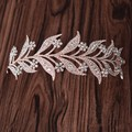 Rose Gold Crystal leaves Vine Tiara Wedding Headband Hair Accessories Bridal Head Tiaras Hair Jewelry Women wedding crowns